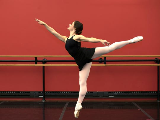 Molly Walker, 18, a student at New Ballet Ensemble.
