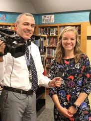 Taylor Laliberte, left, with Mentor Mr. Schwalm.