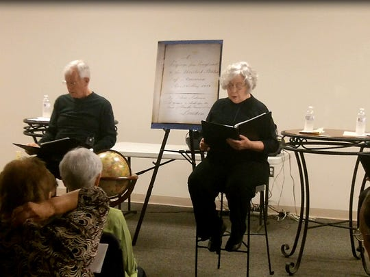 This photo was taken during a readers' theater performance