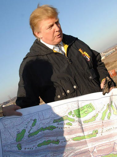 This November 2007 file photo shows Donald Trump at the EnCap site in Lyndhurst.