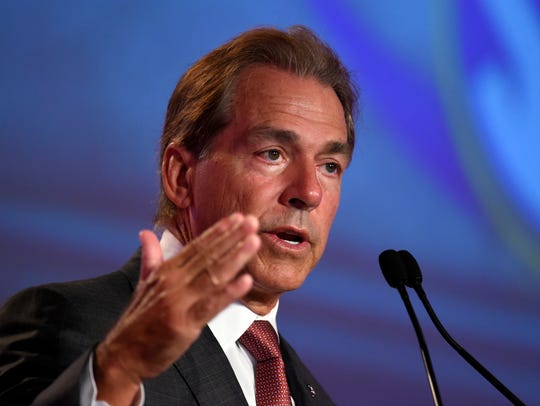Alabama football coach Nick Saban says the best should