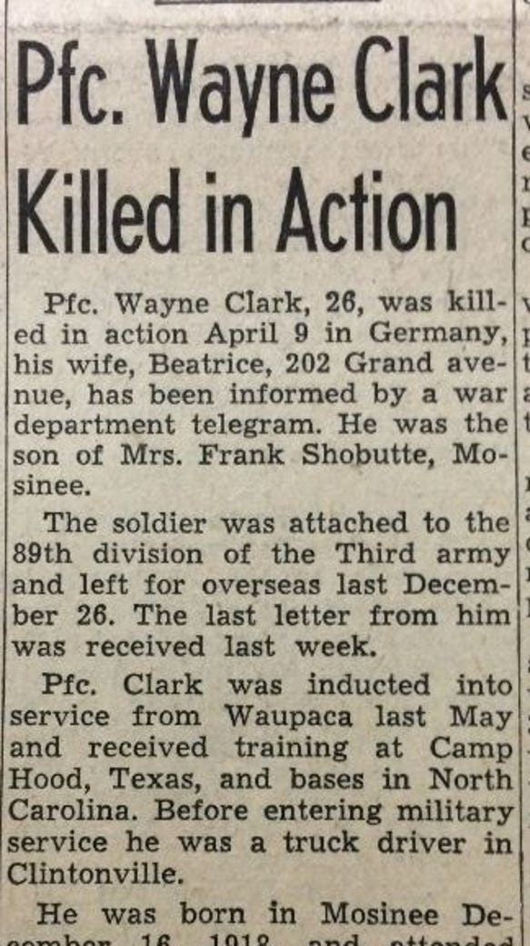 Wayne Clark was a truck driver before being drafted