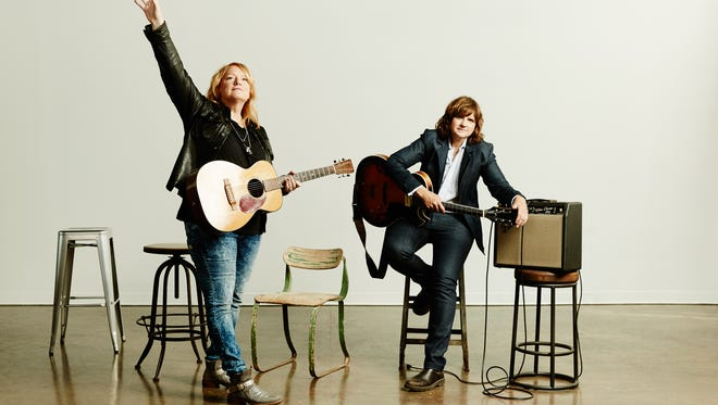 Emily Saliers and Amy Ray, aka Indigo Girls, perform in concert Tuesday at the Flynn Center.