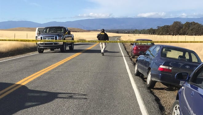 First responders on the scene Tuesday, Nov. 14, 2017 south of Redding after reports of children injured in a shooting.