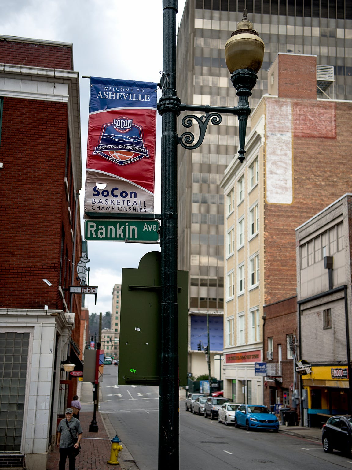 Banners are displayed around downtown Asheville as