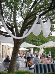 Varka restaurant's patio in Ramsey NJ