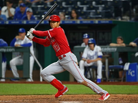 April 12: Shohei Ohtani reaches on a fielder's choice