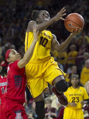 Promise Amukamara had 20 points, one below her career high, against California on Friday.