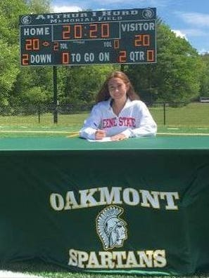Recent Oakmont Regional graduate Kiley Young will academic and athletic careers at Keene State College where she will join the Owls' swimming team.