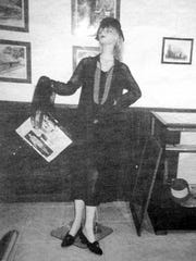 Virginia Hirsch's flapper fashion was displayed in the museum.