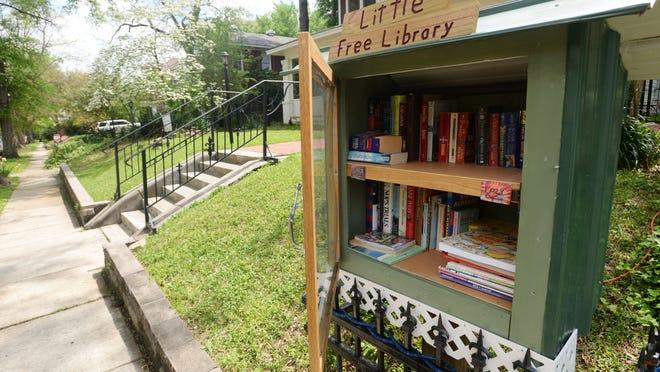The Free Little Library on Wilkinson Street in the Highland neighborhood of Shreveport.
