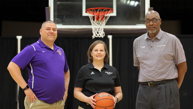 The El Paso Times' 2016-2017 Basketball Coaches of the Year are Paul Gutierrez of Burges, Marlee Webb of Franklin and Jim Forbes from Andress.