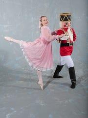 Clara (Allison Harris) with Nutcracker (Elijah Kelley). The Eastern Shore Ballet Theatre will perform its version Dec. 1-3, 2017.