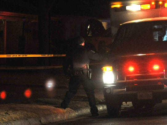 Wichita Falls police work the scene of a possible shooting,