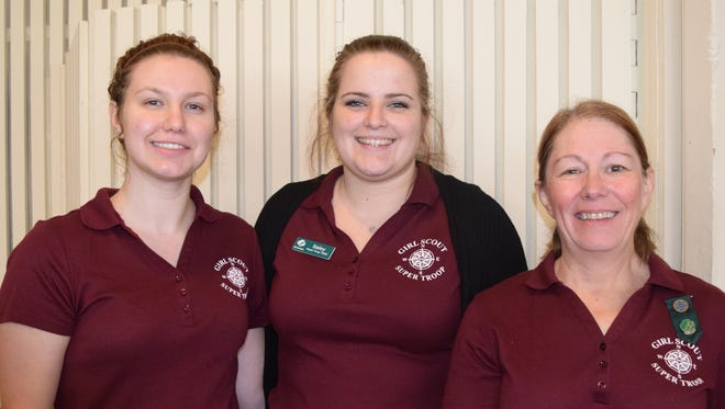 Left to right: Ashley Cullum, Bailey Reed and Peggy Foster, all of Redding, attend the Elks Christmas Charity Party on Dec. 11 at the Redding Elks Lodge.