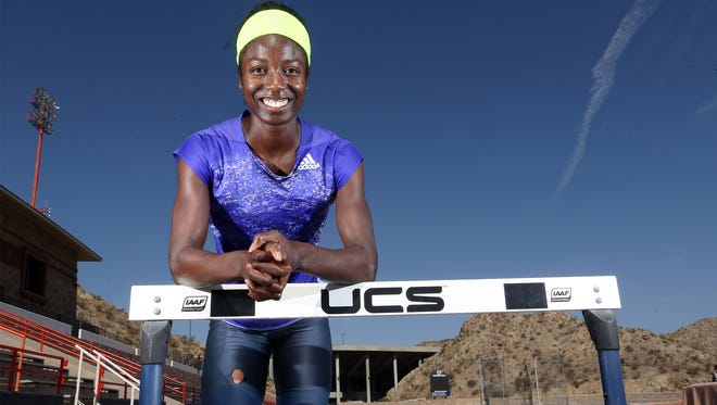 Former Chapin high and Penn State hurdler Evonne Britton is training in El Paso for the Olympic Trials.