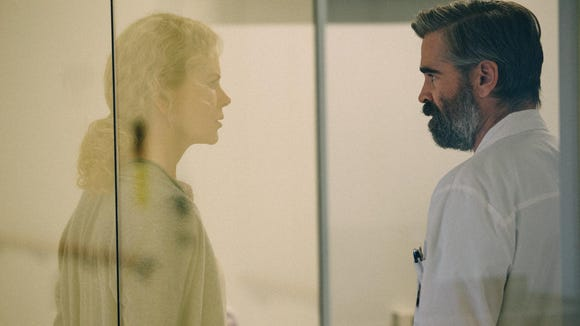 Anna (Nicole Kidman) and Steven Murphy (Colin Farrell) try to save their children in twisted comedy 'The Killing of a Sacred Deer.'