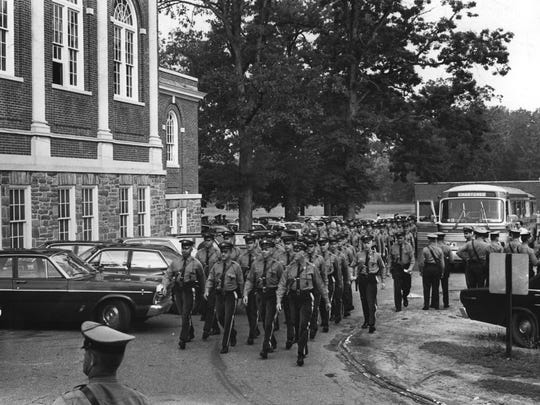 Some 400 state troopers came from a number of barracks to assist federal authorities in ensuring the safety of President Johnson, Soviet Premier Kosygin, and members of both parties during the Hollybush Summit in Glassboro in 1967.