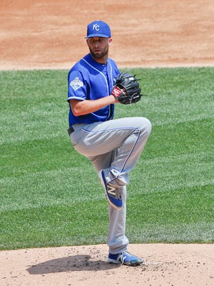 Danny Duffy's average fastball velocity has risen nearly 3 mph over the the last two seasons.