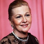 This April 3, 1978, file photo shows actress Joan Fontaine at the 50th annual Academy Awards in Los Angeles. (AP Photo/File)