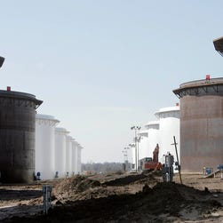 The USA has been producing more oil than it's consuming, filling up storage facilities.(AP Photo/Tulsa World, Michael Wyke)
