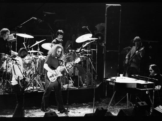 The Grateful Dead perform the final concert at Winterland on New Year's Eve 1978 in San Francisco.