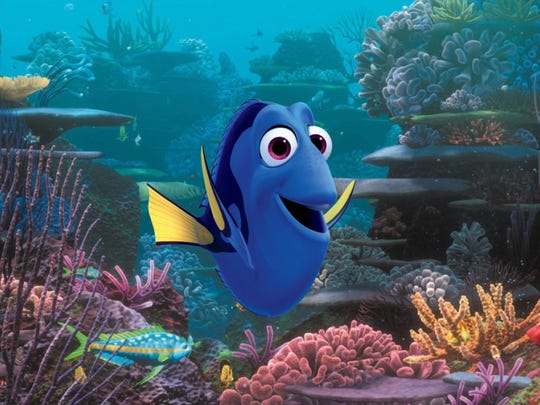 Ellen DeGeneres is forgetful fish Dory in 'Finding Dory.'