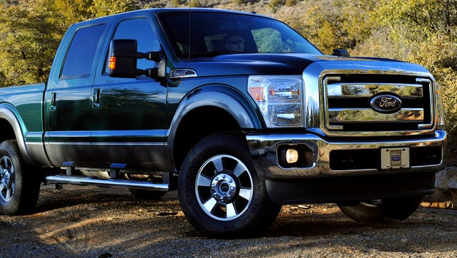 Ford's F-250 Super Duty, shown here as the 2011 mode, had the most with 200,000 miles on the odometer in the study