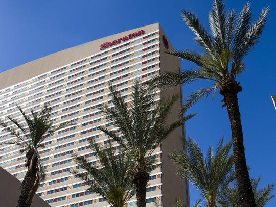 The Sheraton Grand Phoenix is a 31-story tower in downtown