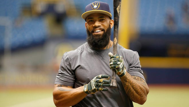 Eric Thames is hitting .238 with 27 home runs and 52 runs batted in over 114 games this season.