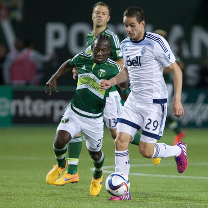 May 2, 2015; Portland, OR, USA;  Portland Timbers midfielder