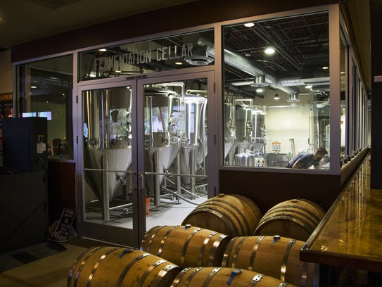 Interior of Helio Basin Brewing Co. in Phoenix, Thursday,