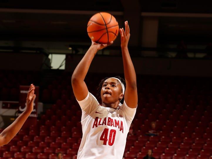 Jasmine Walker scored 15 points in Alabama's 80-61