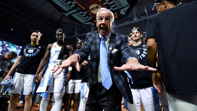 North Carolina head coach Roy Williams after the Tar Heels claimed the title..
