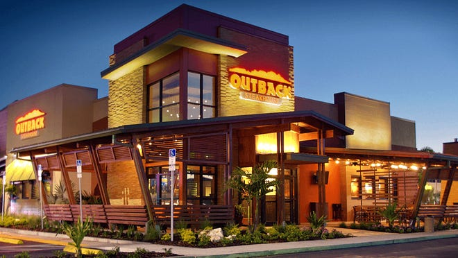 The exterior of an Outback restaurant