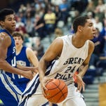 Great Falls High's Reece Green scored six points for the Bison during Friday's game.