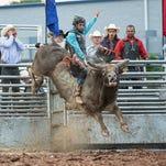 Bull riding at the Fond du Lac County Fair
