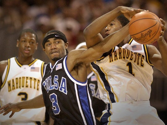 Tulsa upset Dwyane Wade, Todd Townsend and the Golden Eagles in a 2002 first-round game.