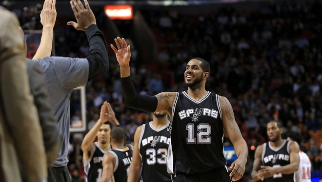 LaMarcus Aldridge's decision to join San Antonio is paying off.