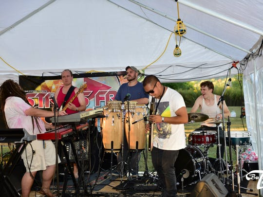 Jungle Jazz Initiative performing live at Stress Free