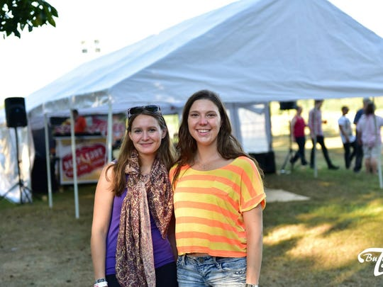 Cindy Kovacs & Cindy Puches (local artists) at Stress