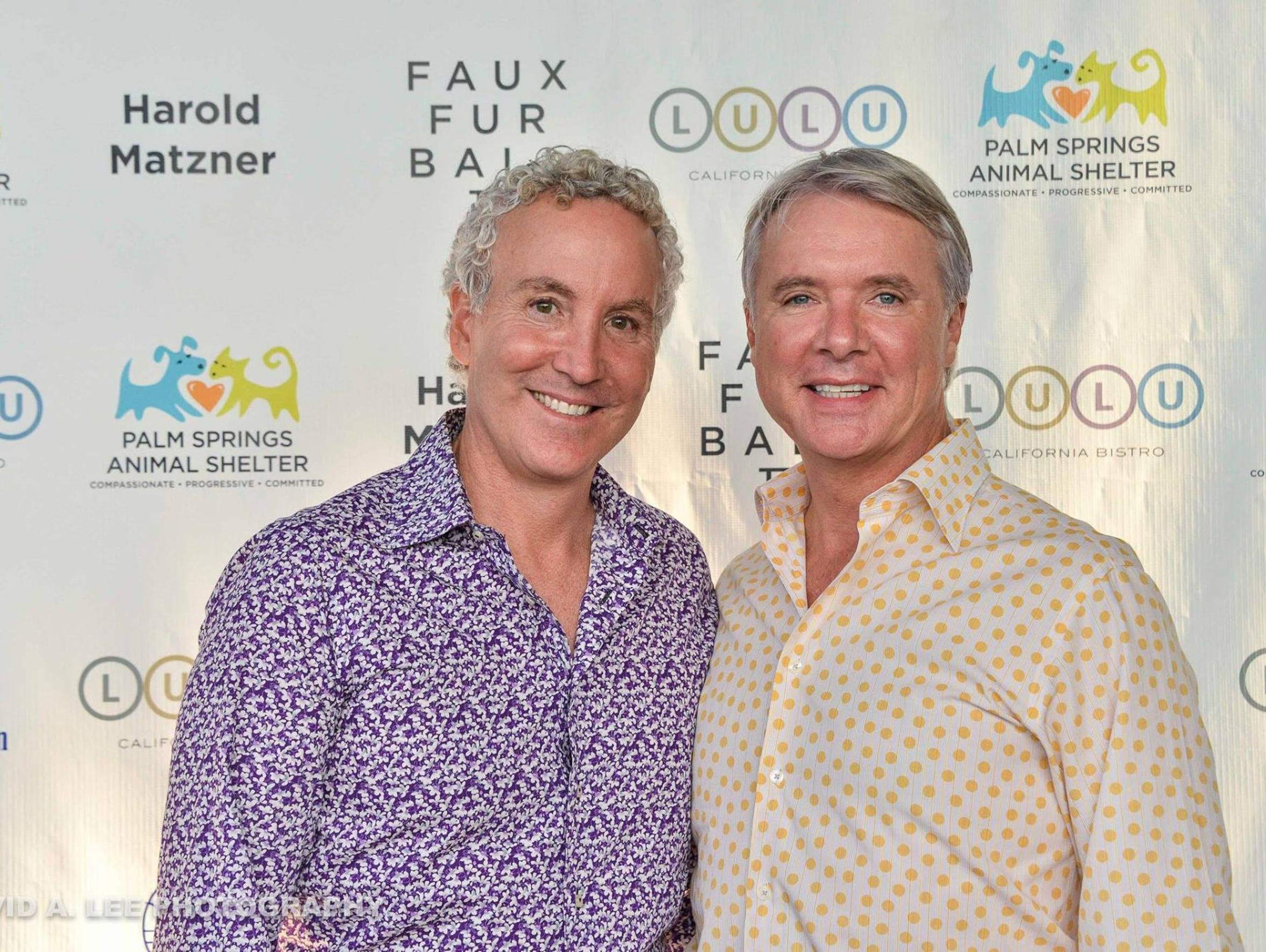 From left to right, Geoff Kors and his husband James