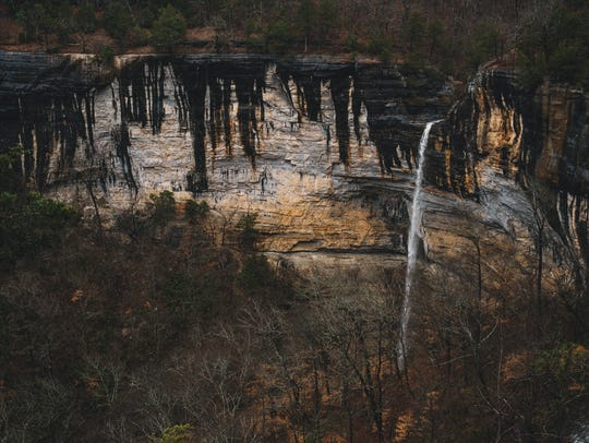 Hemmed in Hollow falls is the highest waterfall between