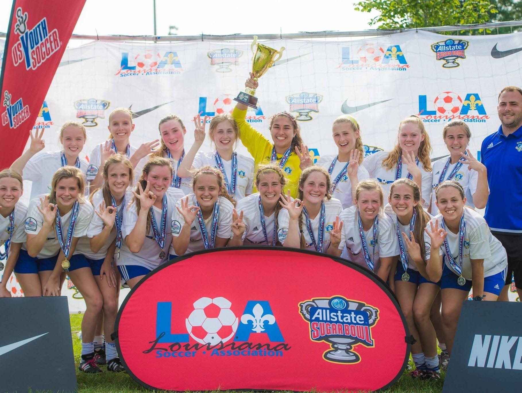 The club team that Ally Peters plays for has won three state championships.
