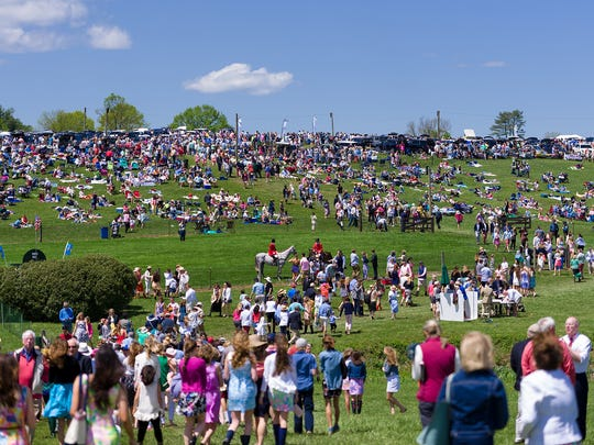 Crowds gather at the 38th annual Point-to-Point at Winterthur last year.