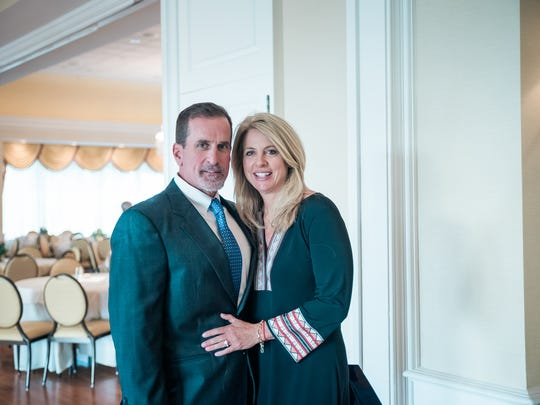 Sally Prendergast with fiance and fellow Limen House board member Mike Loessner,