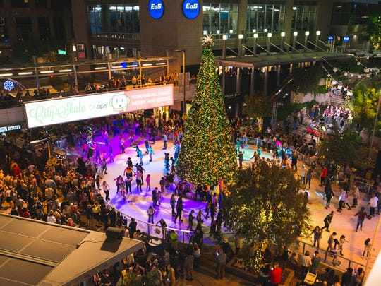 CitySkate at CityScape in downtown Phoenix is an annual holiday tradition, running through Jan. 7.