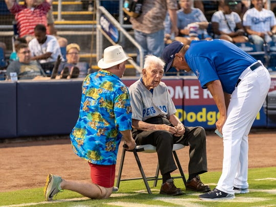 John Appleyard, 95, has signed a five-year, no-cut contract as the color announcer for the Sunday Blue Wahoos broadcasts.