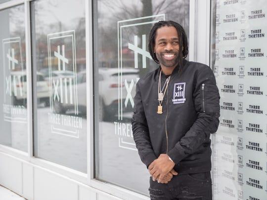 Clement (Fame) Brown of the Detroit apparel retailer Three Thirteen.
