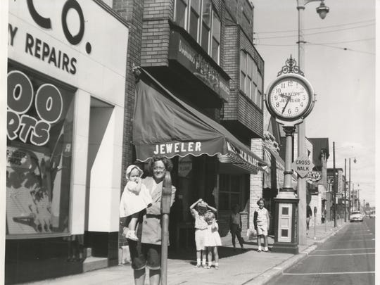 The M.H. Klopf Jeweler clock stood in front of the jewelry store on Kinnickinnic Ave. in Bay View until it was donated to the Milwaukee County Historical Society in 1963.